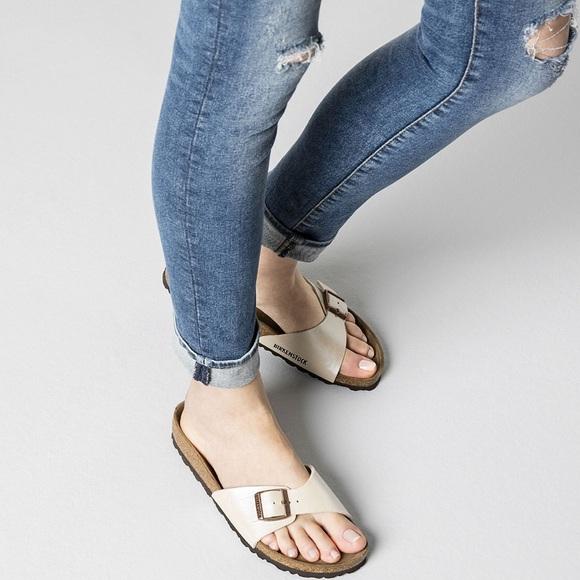 c42094953b6 Birkenstock Shoes - Birkenstock Madrid Sandals in Pearl White